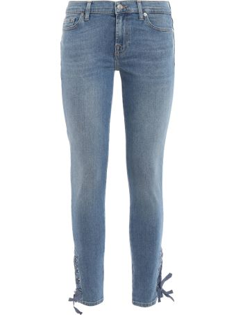 7 For All Mankind Stonewashed Skinny Jeans