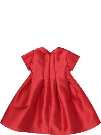 LòLò Red Dress For Girl With Red And Blue Bow