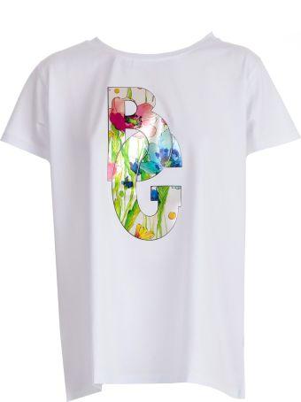 Blugirl Logo Floral Print T-shirt