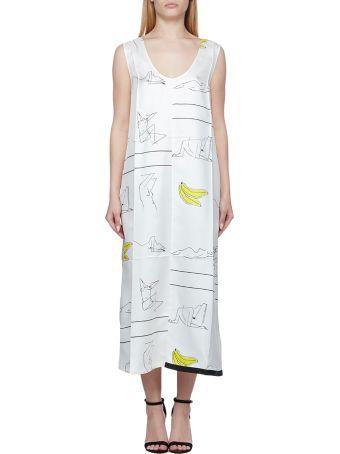Jil Sander Printed Oversized Dress