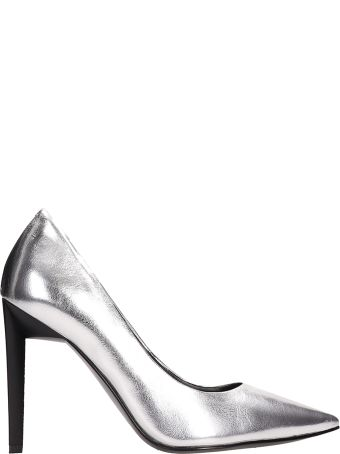 Kendall + Kylie Metal Silver Leather Pumps