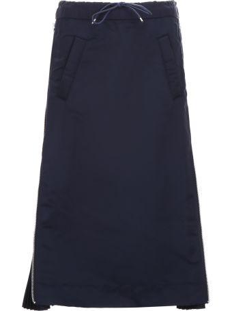 Sacai Nylon Midi Skirt