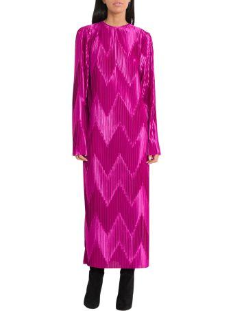 Givenchy Zig-zag Pleated Midi Dress