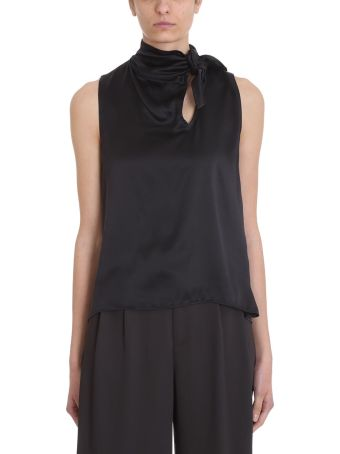 Mauro Grifoni Bow Black Viscose Top