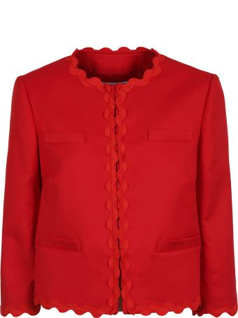 RED Valentino Scalloped Detail Jacket
