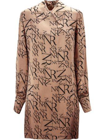 Nina Ricci Pink Silk All-over Shirt Dress.