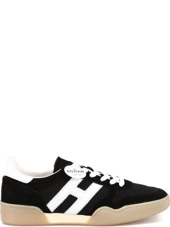 Hogan H357 Suede And Fabric Sneakers Hxw3570ac40krf0002