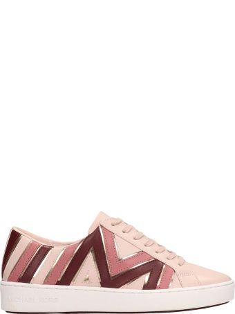 Michael Kors Pink Leather Whitney Sneakers
