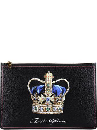 Dolce & Gabbana Crown Clutch With Logo