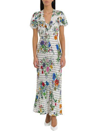 Rixo London Star Tie-front Midi Dress
