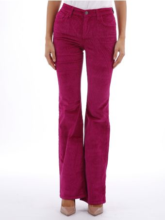 Current/Elliott Trousers Fuchsia Velvet