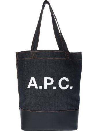 A.P.C. Logo Print Tote