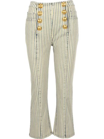 Balmain Flared 8 Buttons Cropped