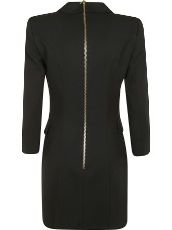 Balmain Rear Zip Double-breasted Dress