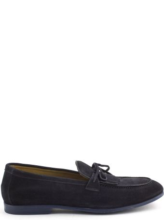 Doucal's Blue Suede Loafer