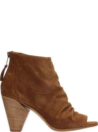 Strategia Brown Suede Leather Ankle Boot