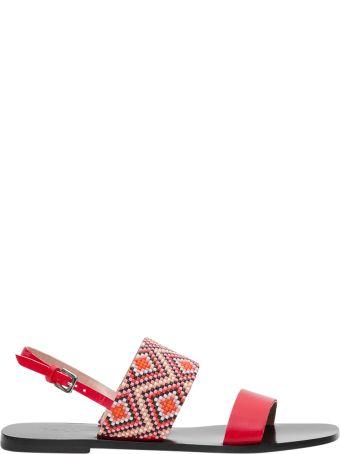 Pollini Beaded Sandal