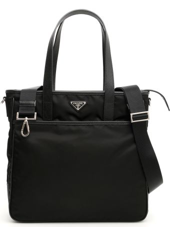 Prada Nylon And Saffiano Travel Bag