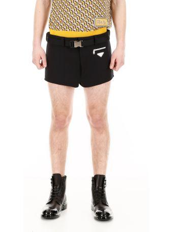 Prada Belted Swim Shorts