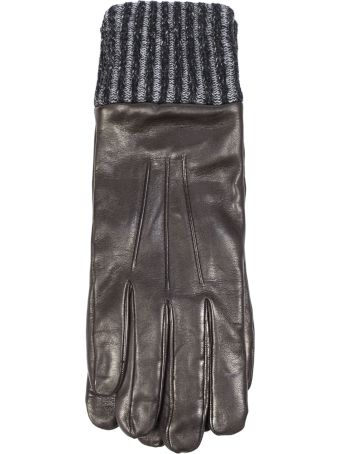Fay Gloves In Brown Nappa Leather