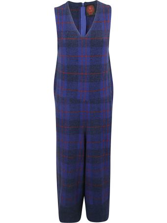 Happy Sheep Checked Jumpsuit