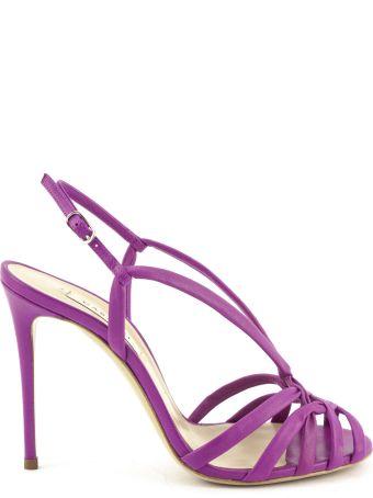 Casadei Fuchsia High-heel Minorca Sandals