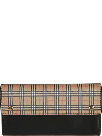 Burberry Checked Print Continental Wallet