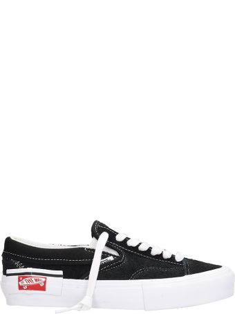 Vans Black Suede And Fabric Slip On Cap Lx Sneakers