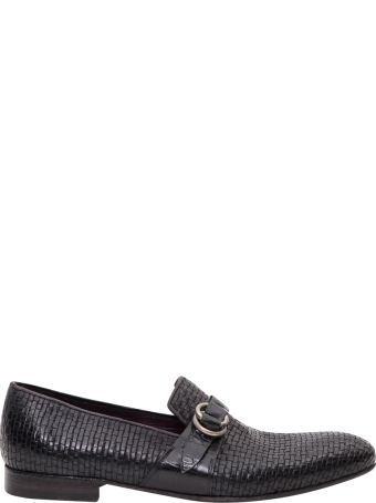 Lidfort Braded Leather Loafer