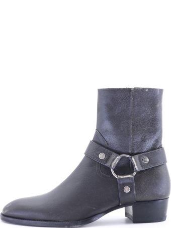 Saint Laurent Boot Black Leather
