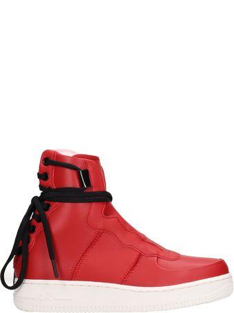 Nike Red Leather Af1 Rebel Xl Sneakers
