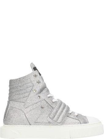 Gienchi Hypnos Silver Glitter Sneakers