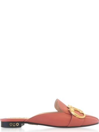 Charlotte Olympia Pretty Pink Leather Mules