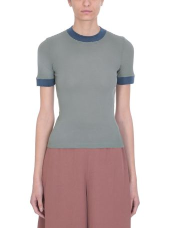 Acne Studios Green Cotton Eva T-shirt