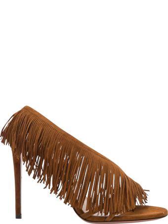 Aquazzura Wild Fringe Sandal 105