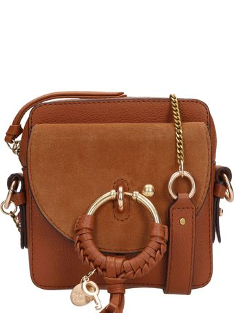 See by Chloé Brown Leather And Suede Joan Mini Bag In Suede