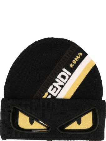 bbb3751880e Fendi Fendi Ff Fendi Roma Bag Bugs Knit Hat - Black - 10862215