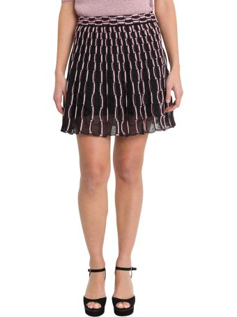 M Missoni Circle Skirt With Optical Motif