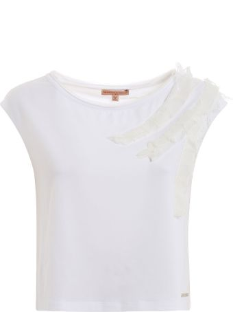Ermanno Scervino Ruffle Trim Top