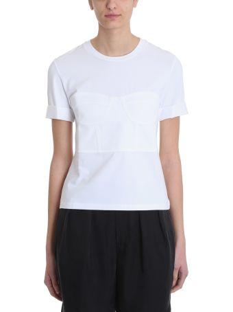 Neil Barrett Bustier White Cotton T-shirt