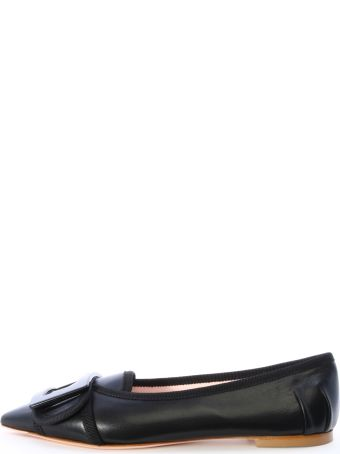Roger Vivier Ballet Shoes Black Leather