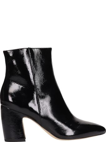 Sam Edelman Ankle Boot In Black Shiny Leather