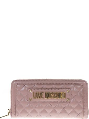 Love Moschino Pink Faux Leather Wallet