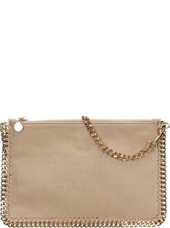 Stella McCartney Beige Faux Leather Falabella Purse Clutch Bag