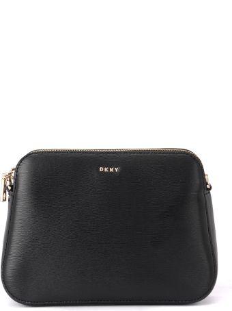 DKNY Bryant Black Leather Pochette