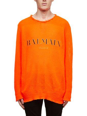 Balmain Embroidered Logo Sweater