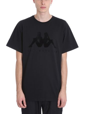 Danilo Paura x Kappa Black Cotton T-shirt