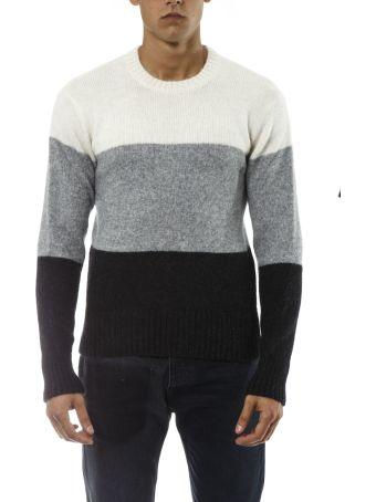 Ami Alexandre Mattiussi Tricolored Wool Pullover