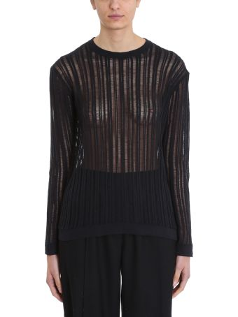 Maison Flaneur Knit Black Cotton Sweater