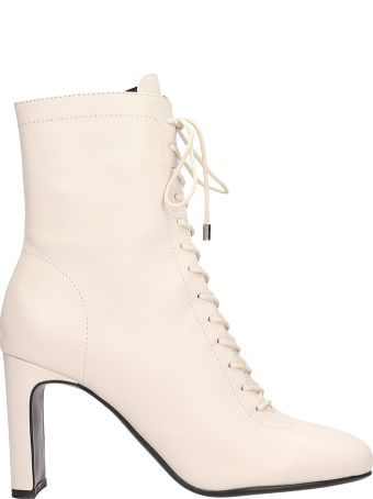 Lola Cruz Lula Black Calf Leather Ankle Boots